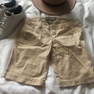A&F Khaki Long Shorts